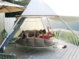 outdoor porch bed swing round