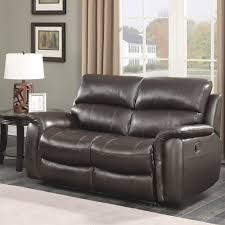 2 Seater Sofa Recliner by Pulaski Wilson 2 Seater Brown Leather Manual Recliner Costco Uk