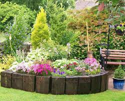 flower border around tree garden u0026 landscape ideas pinterest