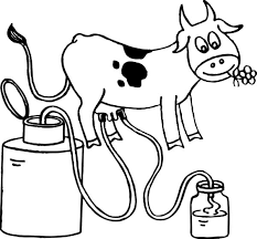 farmer family doing milking cow coloring pages color luna