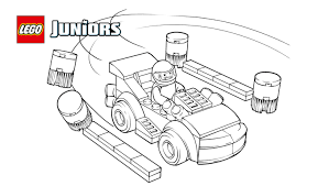 lego juniors racing car driver coloring page coloring pages