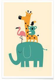 poster für kinderzimmer kinderbilder fürs kinderzimmer giraffe hrbayt