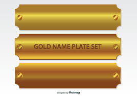 gold nameplate golden name plates set 149694 welovesolo