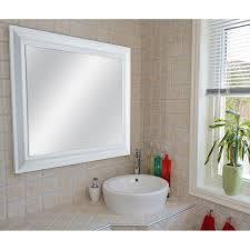 masterpiece decor 22 5 in x 28 5 in white framed mirror 82011