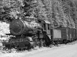 rusty train steam train locomotive powered by coal free b u0026w stock image