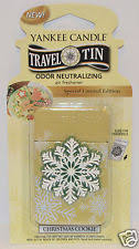 yankee candle christmas cookie travel tin air freshener car closet