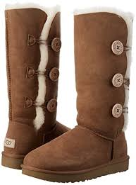 womens ugg triplet boot ugg s bailey button triplet ii winter boot chestnut 9 b us