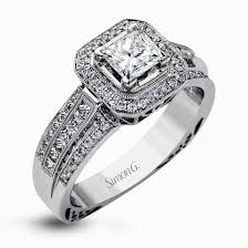 the bizz wedding band halo engagement rings