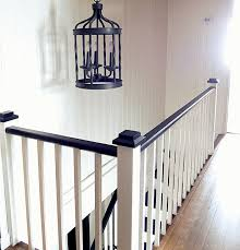 How To Paint A Banister Black Remodelaholic Black And White Painted Staircase Transformation