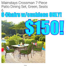 Mainstays Crossman 7 Piece Patio Dining Set Green Seats 6 - hurst u0027s good buy home facebook