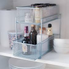 design ideas cabinet basket in silver mesh homearama ltd