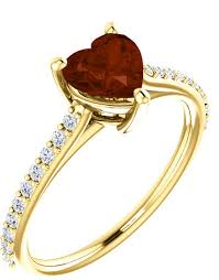 red jewelry rings images Red wine heart shaped garnet ring with 1 5 carat diamonds jpg