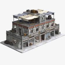 3d model game ready building collection obj fbx 3ds dae lwo lxo