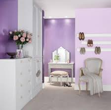 glamorous bedroom painted with crown matt emulsion in lavender