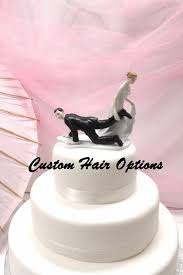 personalized wedding cake topper funny cake topper escaping