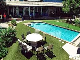 Artificial Grass Backyard by Plastic Grass Oasis California Rooftop Pool Designs