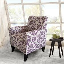 Floral Accent Chair Adeco Purple Floral Accent Chair With Birch Wood Legs Single