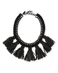 bib necklace black images Cocoa jewelry lucinda tassel bib necklace black jpg