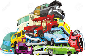 wrecked car bunch of old wrecked cars royalty free cliparts vectors and