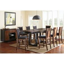 large rustic square santa cruz dining table and chair set 10 steve silver julian 9 piece counter height dining table set with optional server black walnut dining table sets at hayneedle