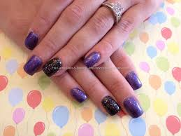 eye candy nails u0026 training acrylic overlay with purple and black