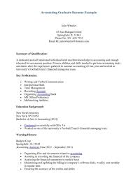 Sample Resume Accounting Assistant by Cover Letter Math Latex