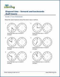 grade 2 telling time worksheets free u0026 printable k5 learning