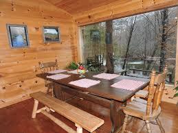 cabin porch beautiful river cabin w screen porch homeaway cleveland