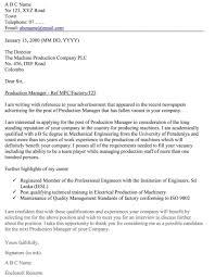 Sample Cover Letter For Maintenance Job by Resume Application Letter Job Example Sample Cover Letter For Cv