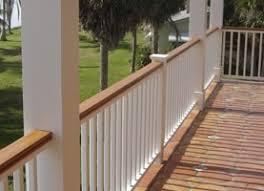 deck railings vinyl porch railings installed or diy railing