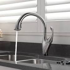 addison kitchen faucet shop delta addison touch2o arctic stainless 1 handle deck mount pull