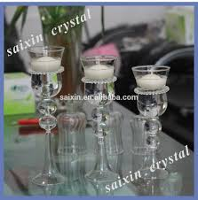 beautiful glass cup candle holder for wedding table decor view