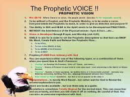 Prophecy Is For Edification Exhortation And Comfort The Prophetic Voice 1 The Origin Of The Prophetic U2026 2 God Wants