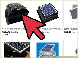 how to buy a solar powered attic fan 5 steps with pictures