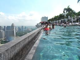 file skypark infinity pool view from pool near the edge jpg