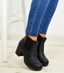 womens chelsea boots womens ankle chelsea boots chunky block heels platform shoes