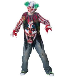 clown big top terror kids jester costume kids halloween costumes