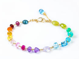 bracelet rainbow images Rainbow precious gemstone bracelet wire wrapped in gold filled jpg