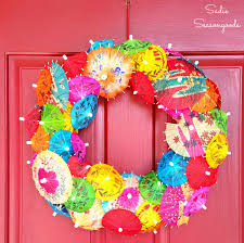 christmas cocktails vintage festive summer wreath from vintage drink umbrellas