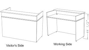 Standard Desk Size Office Home Design Nice Standard Reception Counter Height Pretty