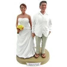 themed wedding cake toppers and groom hawaiian themed wedding cake toppers