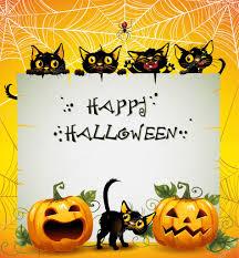 black cats halloween background u2014 stock vector efoxly 13639854