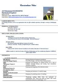 Resume Examples Mechanical Engineer Mechanical Engineering Sample Resume Http Exampleresumecv Org