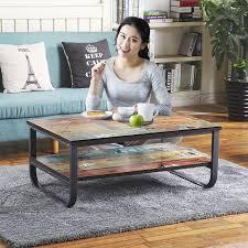 metal frame coffee table vintage apartment metal frame and mdf board simple living room