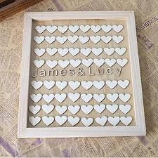 hochzeitsgeschenk f r die braut personalisiert paare namen holz gästebuch auswahlfeld rahmen