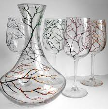 beautiful wine glasses wine glass painting designs start your list find someone