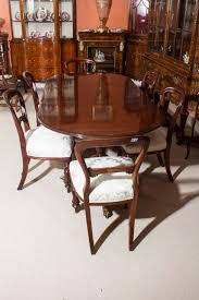 West Indies Dining Room Furniture by Vintage Regency Style Dining Table And Six Antique Chairs At 1stdibs
