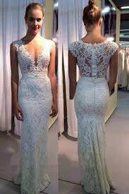 ivory lace wedding dress v neck mermaid sleeveless ivory lace wedding dress wedding