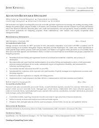 Resume Examples For Clerical Positions by Accounts Receivable Specialist Resume Sample Resume For Your Job