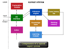 the figure presents the components of typical expert system 9